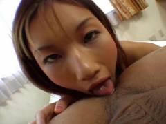 Maria Fujisawa licks ass and sucks cock
