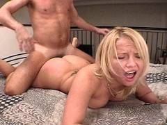Blonde in wild doggy screw