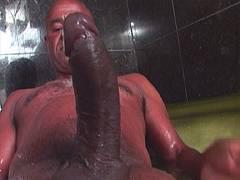 Gigantic cock sucked